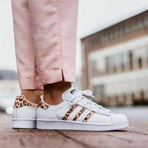 Adidas Superstar Leopard Stripes Sneakers CQ2514
